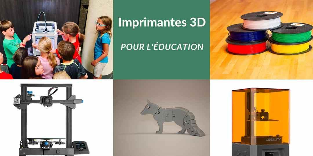 imprimantes 3D pour l'éducation