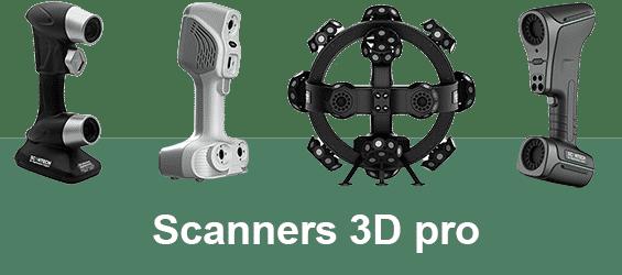 Scanners 3d professionnels