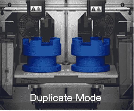 Flashforge creator 3 duplicate