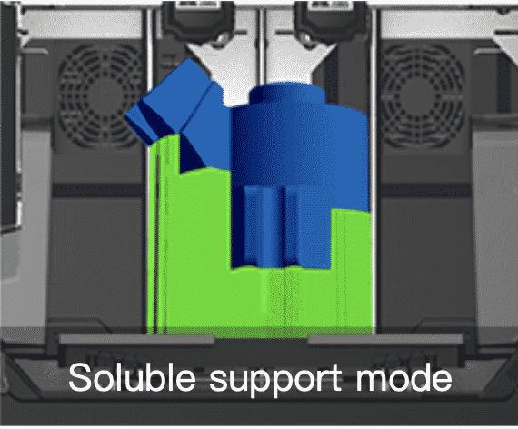 Flashforge Creator 3 supports