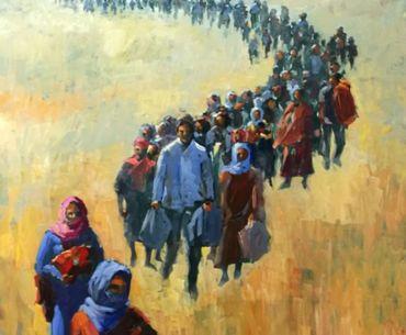 Artistas extremeños con los refugiados