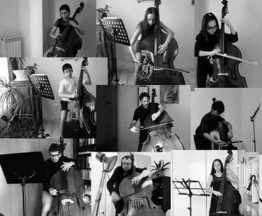 Jóvenes contrabajistas llevan la música de Inés Badalo a la Bienal de Arte de Cerveira