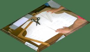 patrones base para elaborar diseños o modleos de prendas femeninas.