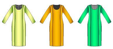 Patrones de vestido clasico Corte Princesa de dama