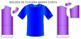 Molde playera normal manga corta