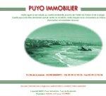 1ère version du site Puyo Immobilier.