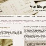 Var Biographie est le site de Guylaine Savoir-Pouret. Elle se propose de vous aider à écrire vos mémoires.
