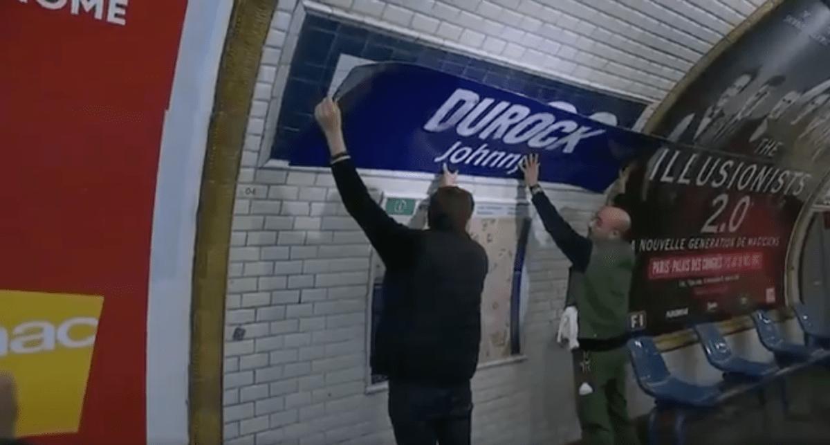 """La RATP renomme la station """"Duroc"""" en """"Durock"""" en hommage à Johnny Hallyday-1"""