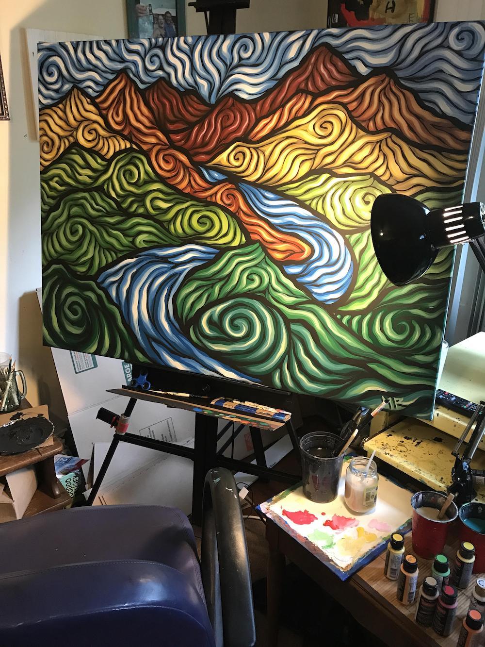 Matthew Robertson : le peintre psychédélique qui cartonne sur Reddit avec son style en spirale