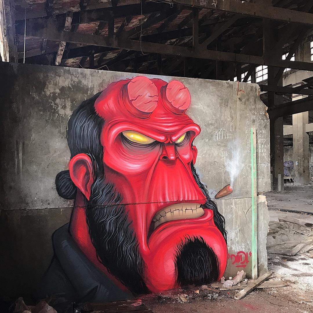 Le street artiste DavidL rend hommage à la pop culture avec des oeuvres fascinantes
