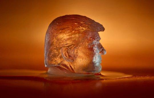 Ce glaçon Trump aide à lutter contre le réchauffement climatique