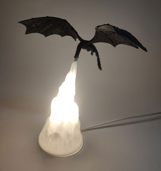 Lampe dragon Game of Thrones