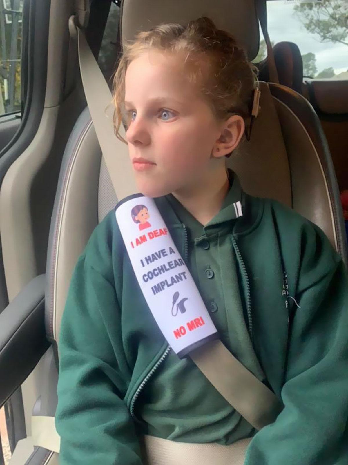 Housse de ceinture qui avertit des problèmes de santé des enfants