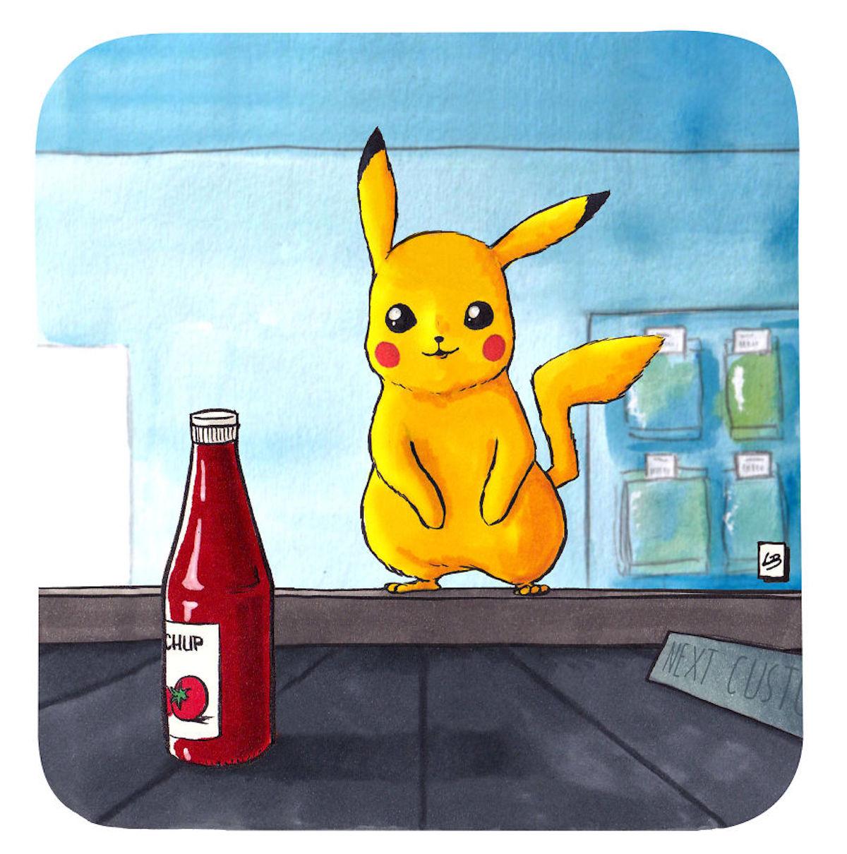 Pikachu ketchup Linda Bouderbala