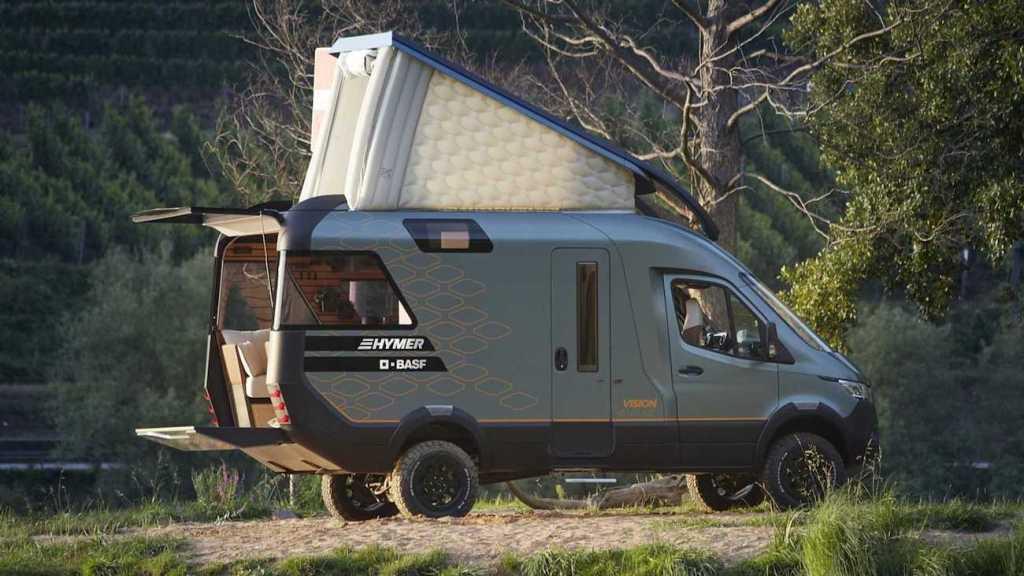 Ce camping-car futuriste intègre le confort d'un appartement pour révolutionner le camping ! By Mélanie D. Hymer-camping-car-van-luxe-1