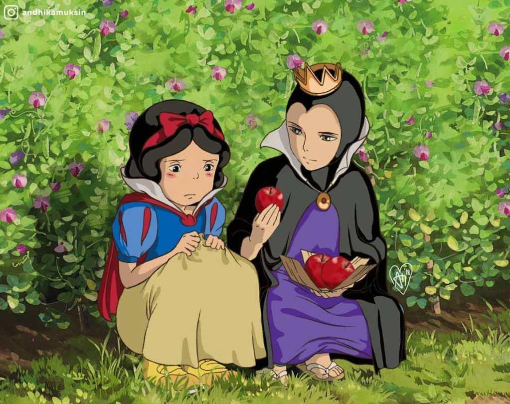 Les princesses Disney transposées dans l'univers du Studio Ghibli