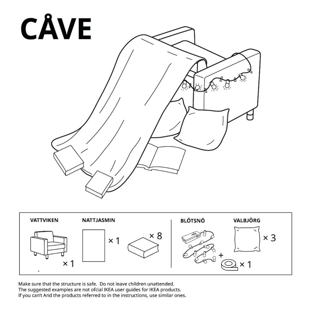 IKEA propose 6 moyens de construire des cabanes pour enfants avec son mobilier