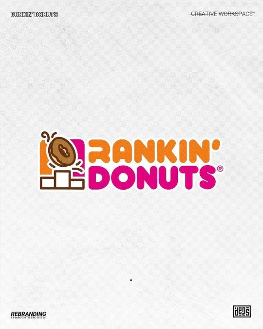Logo de Dunkin' Donuts rebrandé par de2s