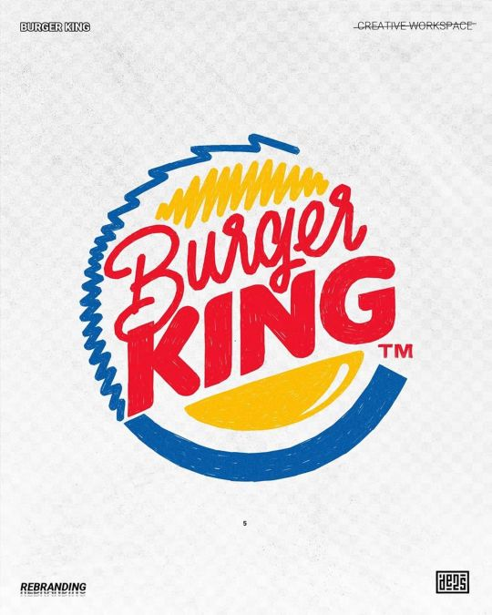 Logo de Burger King rebrandé par de2s