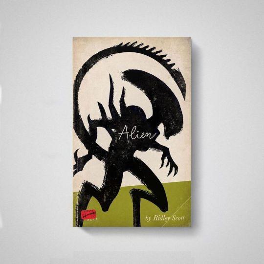 Les affiches de films façon vieux livres de Matt Stevens