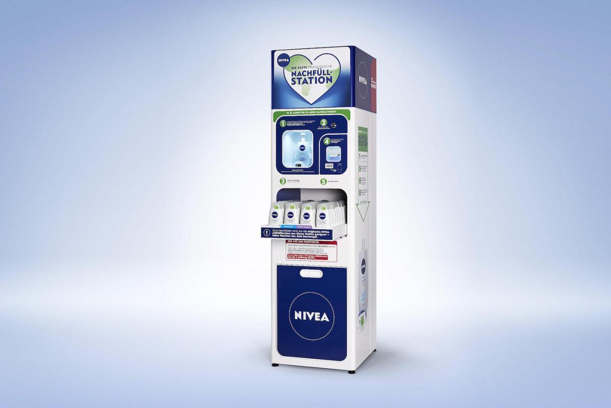 Pour limiter les emballages, Nivea permet de recharger son gel douche en magasin