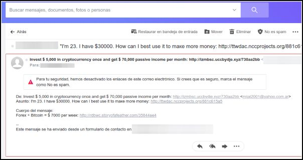 Spam Yahoo! Mail