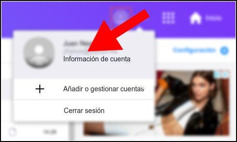 información de cuenta Yahoo!
