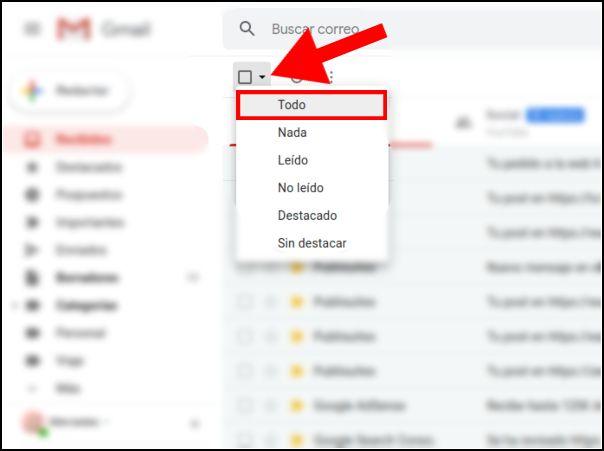 selección Gmail