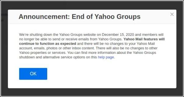 cierre Yahoo! Grupos