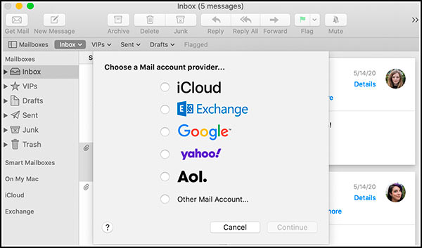 Cliente email Apple