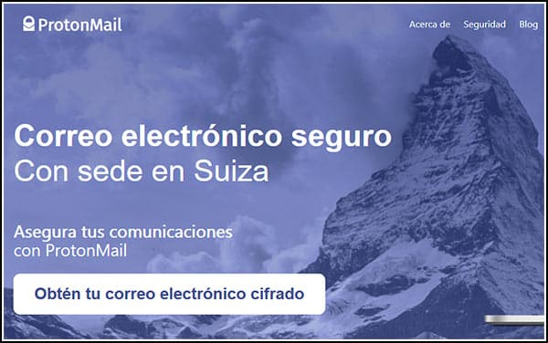 Correo electrónico ProtonMail