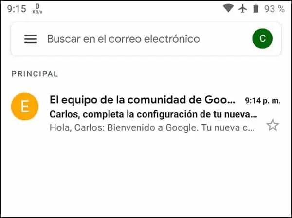 Nueva cuenta Gmail