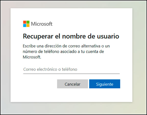Recuperar email Outlook