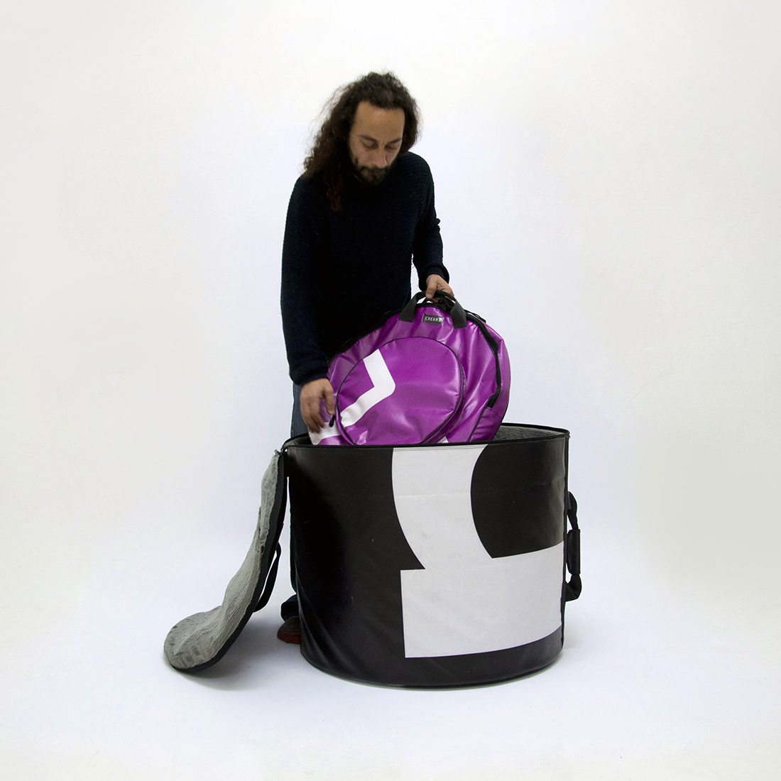 www.crearebags.com eco drum set bag a