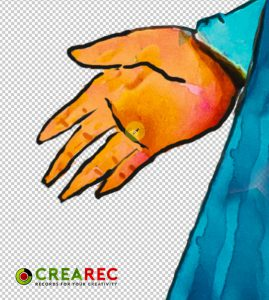 drawing hand by photoshop