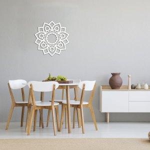 Cerchio nel grano Wall Tattoo bianco 50 x 50. Adesivi murali di CreArtDesignItaly.com per decorazione da parete