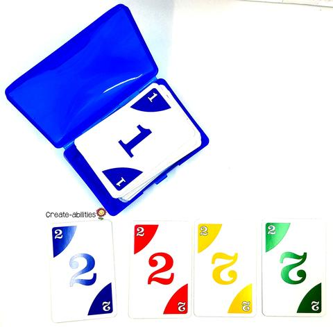 deck of cards to sort students into groups