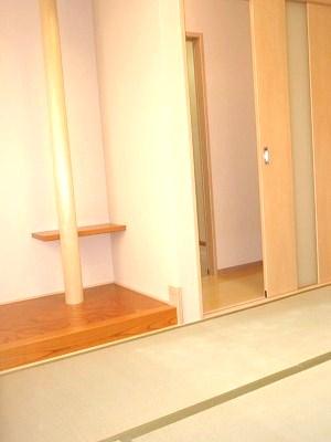 こだわりの床の間を備える和室