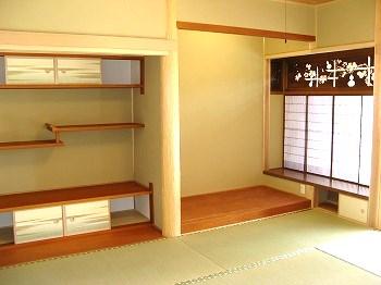 手の込んだ欄間が存在感のある和室。