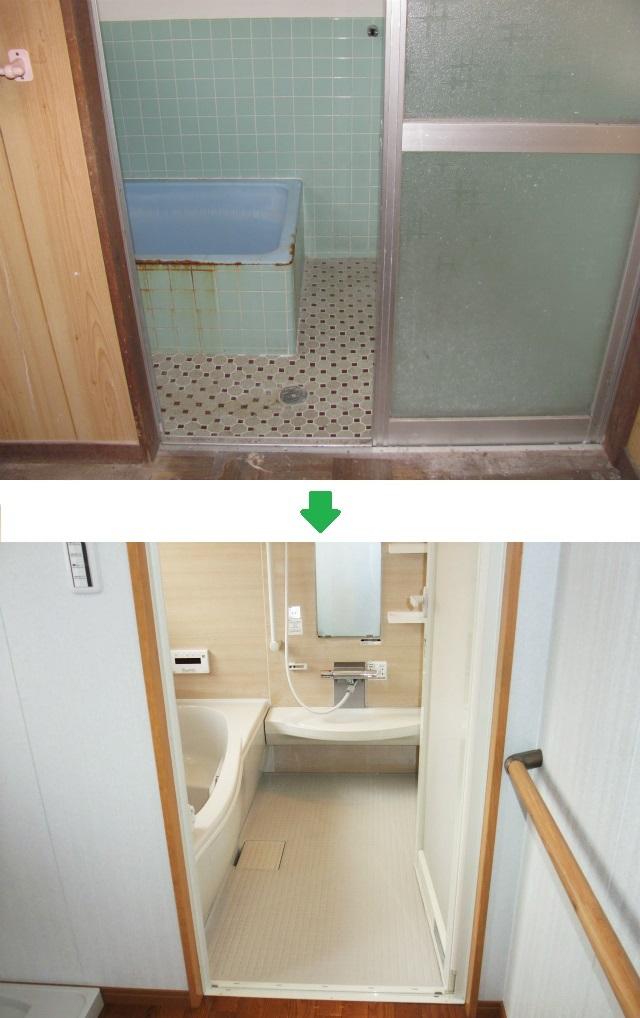 浴室も洗面所も広く快適な空間にリフォーム