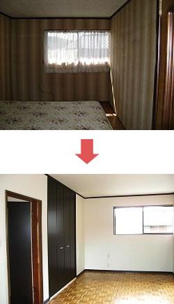 高性能なサッシに交換して断熱性能が向上した寝室