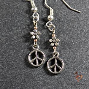 Boucles d'oreilles Peace Wood