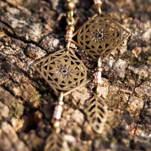 Boucles d'Oreilles Inka Bronze