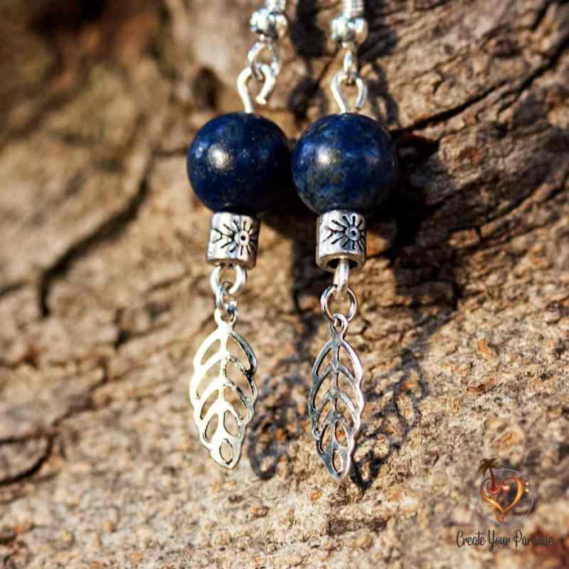 Boucles d'Oreilles Lapiz Lazuli