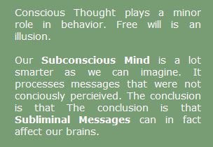 Free will an illusion - Subconscious Mind is controler