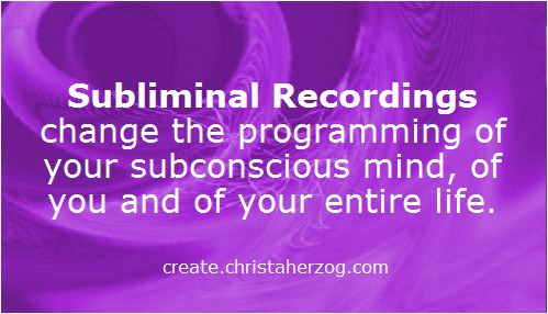 Subliminal Recordings change entire life