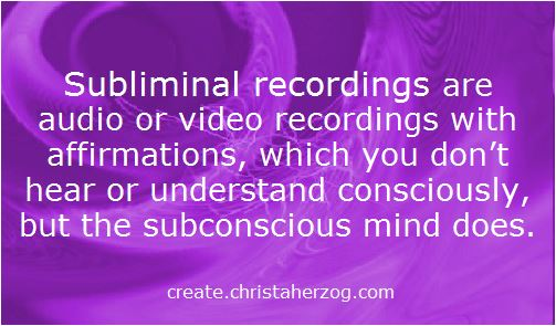 Affirmations in subliminal recordings are not heard