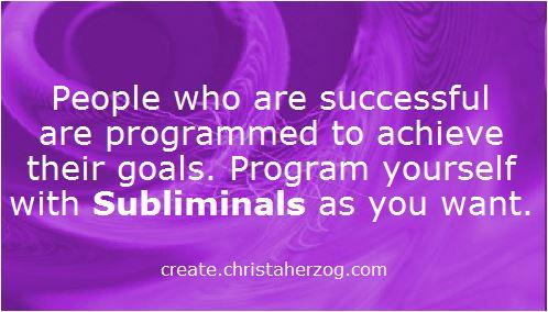 Subliminals program for success