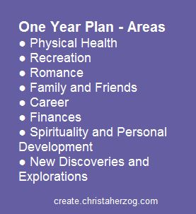 one year plan areas