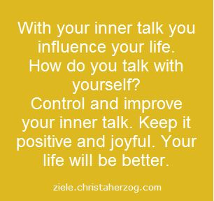 Watch and Control Your Inner Talk